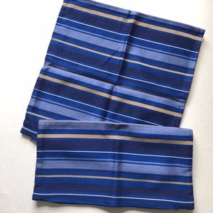 """Crate&Barrel Zachary pillow covers (2)Blue 18"""""""